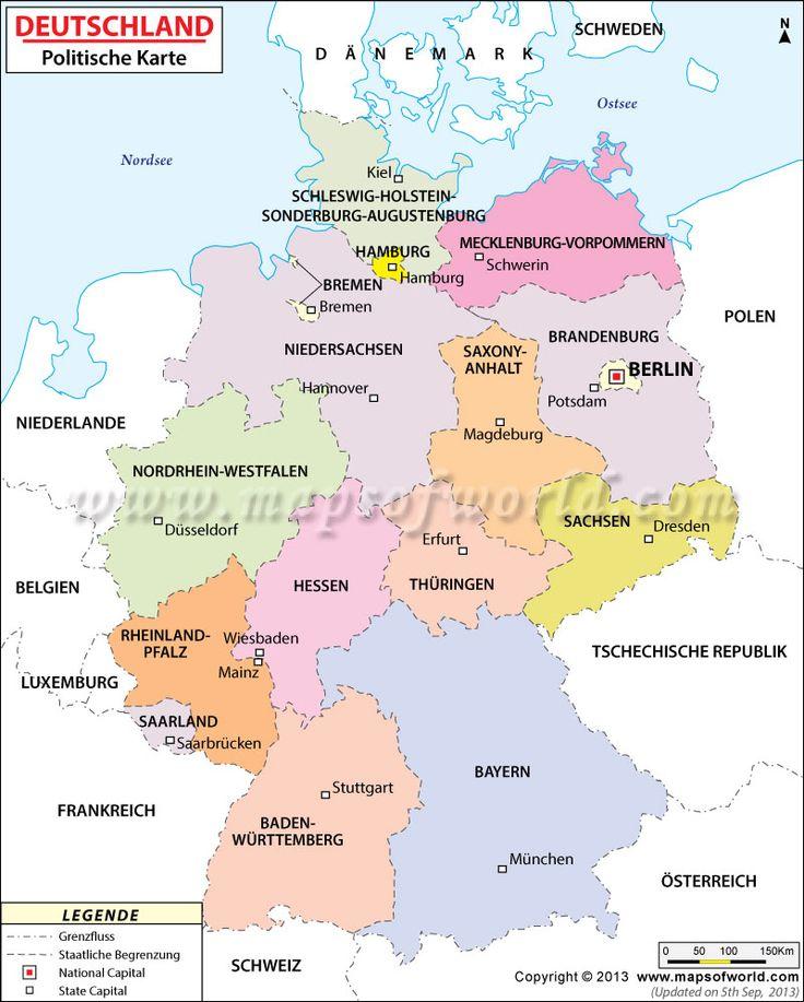 Deutsche Bundesland Karte