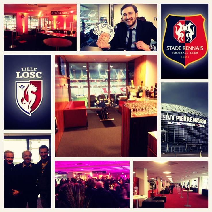 Aujourd'hui c'était #magie dans les salons et loges du Stade Pierre Mauroy pour le match #Losc / #Rennes #Lille #magicien #grandstade #stadepierremauroy #foot