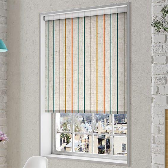 Choices Twill Stripe Linen Mediterranean Roller Blind