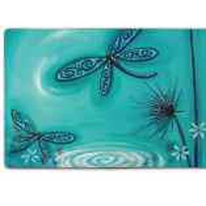 Lisa Pollock Blue Dragonfly plastic placemats, set of 4