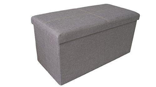 Kids Toy Chest Linen Box Bin Storage Organizer Child Bedroom Playroom Grey New #ToyChest