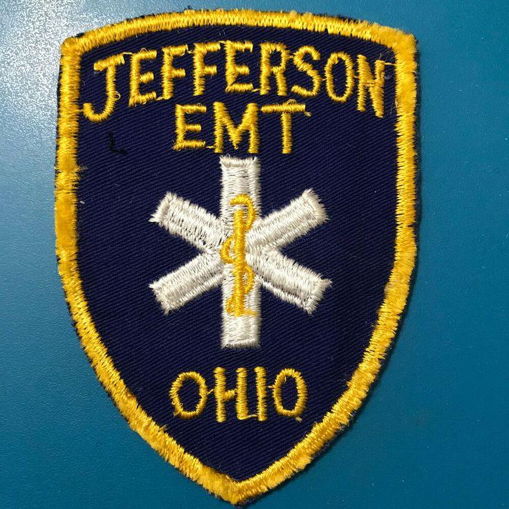 Jefferson emt ems paramedic ohio patch emt paramedic