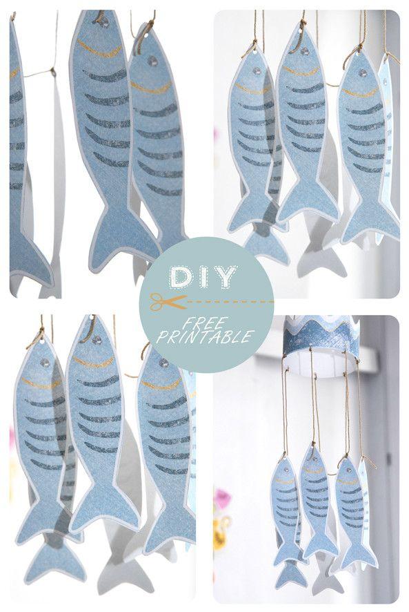 free-printable-fish-mobile-2.jpg Mobile de sardines pour le 1er avril, chez Dans mon bocal.