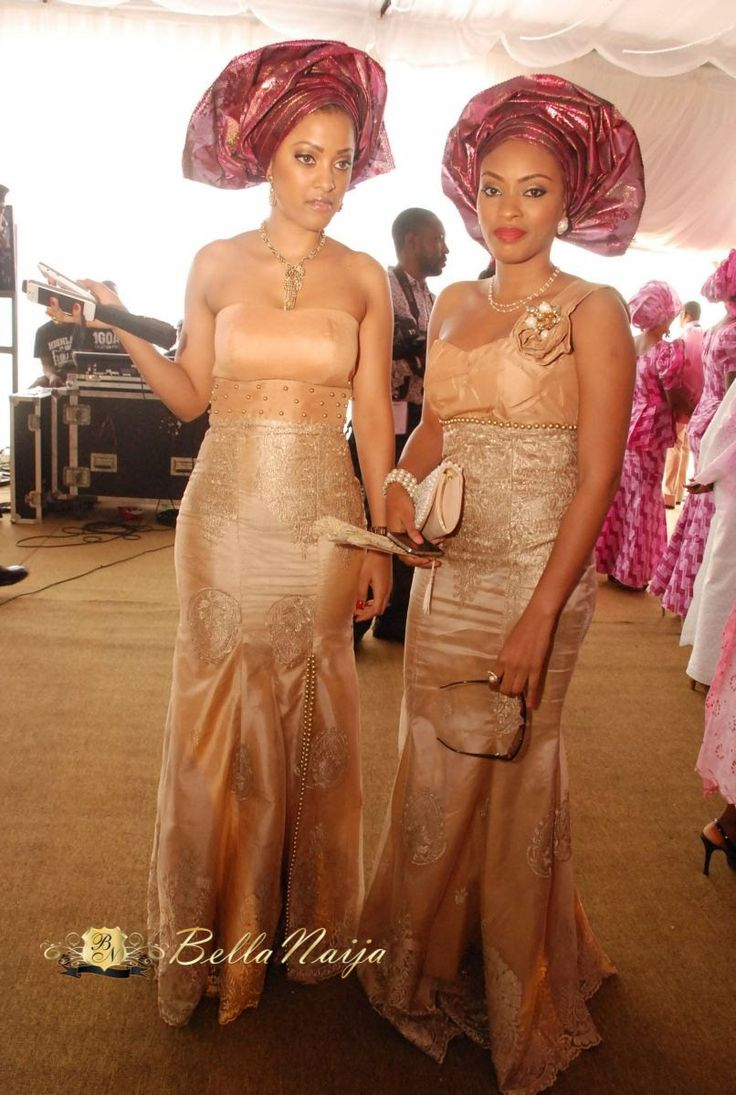 19 best traditional wedding dresses images on pinterest african aso ebi gold peach magenta nigerian wedding gele and dress for brides and bridesmaids ombrellifo Images