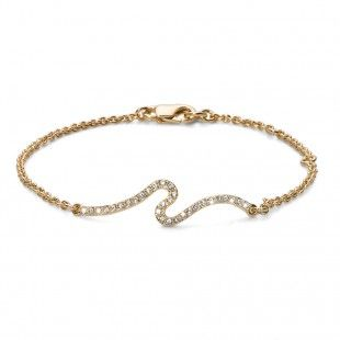 Oliver Weber Women over style bracelet gold with Swarovski Crystals
