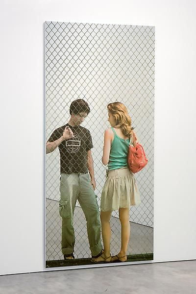 Michelangelo Pistoletto Attraverso la rete, lui e lei (Through the fence, him and her), 2008