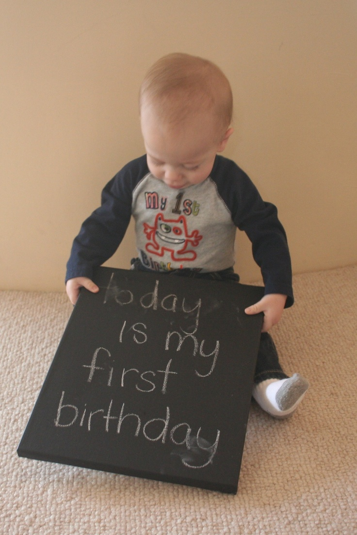 first birthday: First Birthday Pics, Pictures Ideas, Photos Ideas, Birthday Signs, First Birthday Photos, 1St Birthday, Chalkboards Ideas, First Birthday Pictures, Birthday Ideas