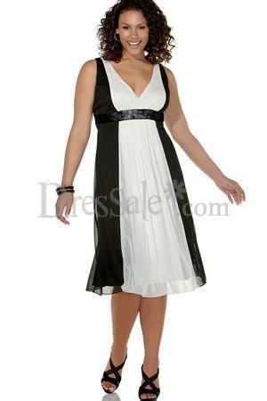 Charming Look Empire Plus Size Bridesmaid Gowns Features Classic Empire Neck, Plus Size Bridesmaid Dresses - dressale.com- For more amazing finds and inspiration visit us at http://www.brides-book.com/#!brides-book-outlet-bridal/c9wq