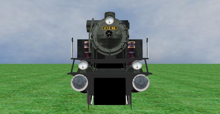 JNR C12 steam loco frontview