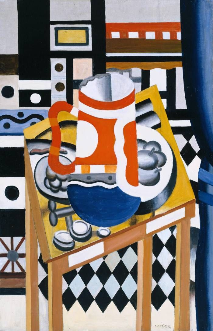 Still Life with a Beer Mug (1921-2) | Fernand Léger (1881-1955) | Oil on Canvas | Collection: Tate.