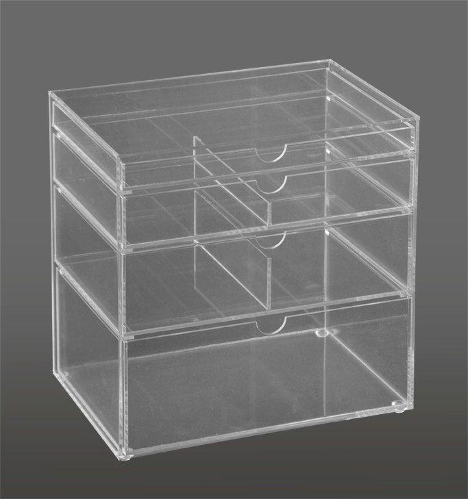 Acrylic Box Tutorial : Best ideas about clear acrylic makeup organizer on
