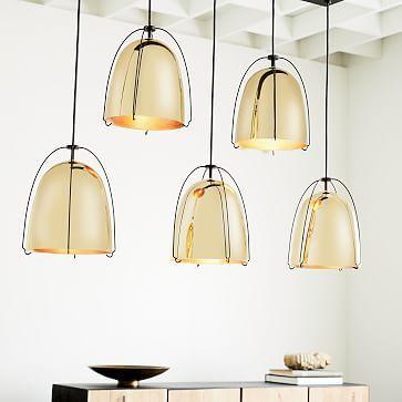 Rejuvenation Haleigh Wire Dome Chandelier - 5-Light (Linear) #westelm