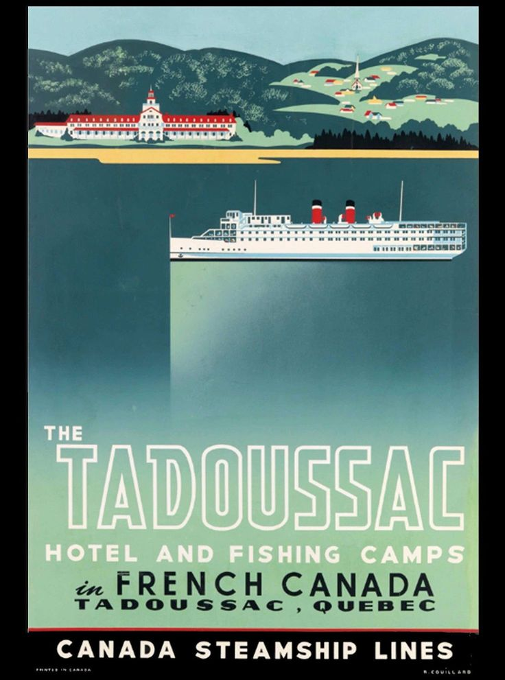 Tadoussac Quebec French Canada Steamship Canadian Travel Advertisement Poster | eBay