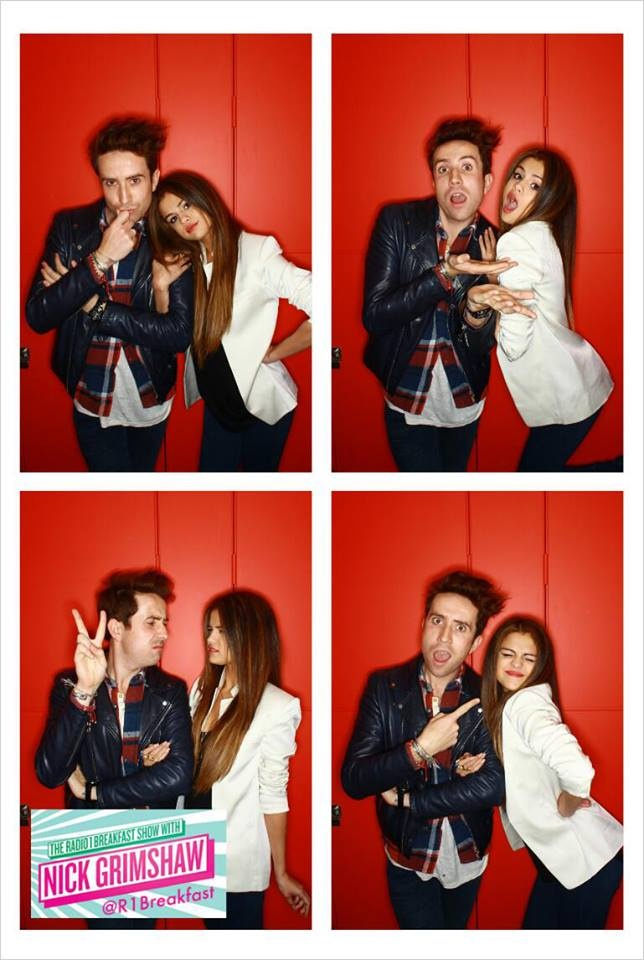Selena Gomez en el programa Breakfast Show con Nick Grimshaw.