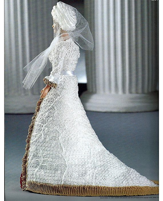 Martha Washington First Ladies of America Collection  Fashion Doll  Crochet Pattern  Annies Attic 8501.