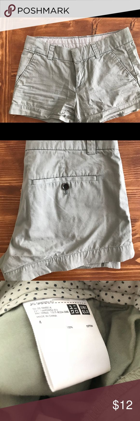 Uniqlo Cotton Shorts- Flat Green 🌿💕 Uniqlo Shorts- Flat Green, Size 4, barely worn, very comfortable! 💕🌿 Mossimo Supply Co Shorts