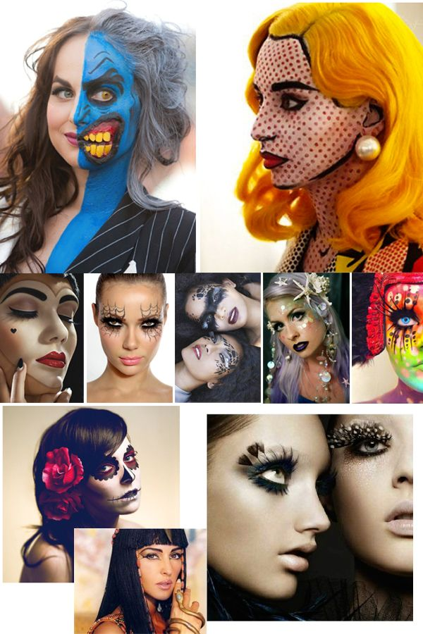 Halloween Eye Makeup Ideas   Halloween Makeup lovvvve the top two. Might do that this year ;))