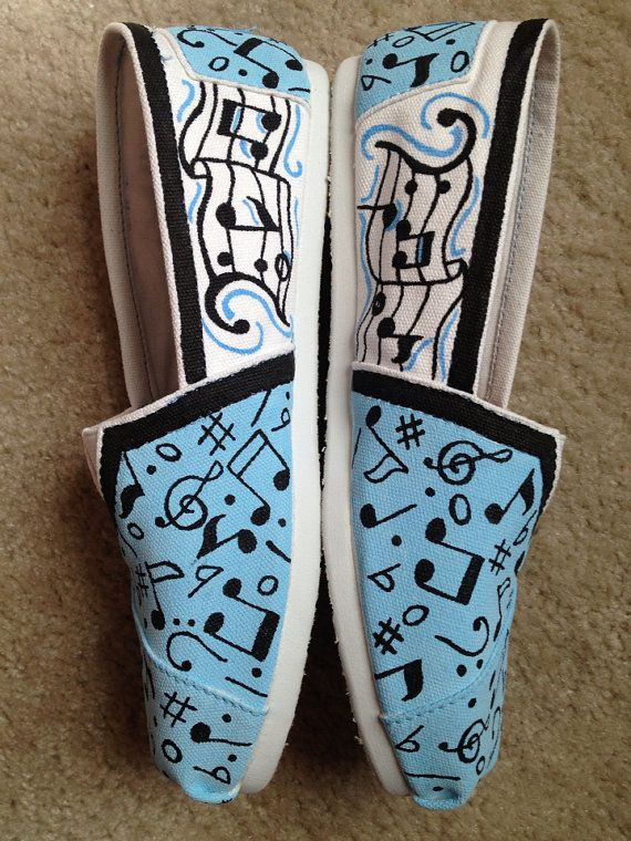 Music Notes Toms by TheDreamsicle on Etsy