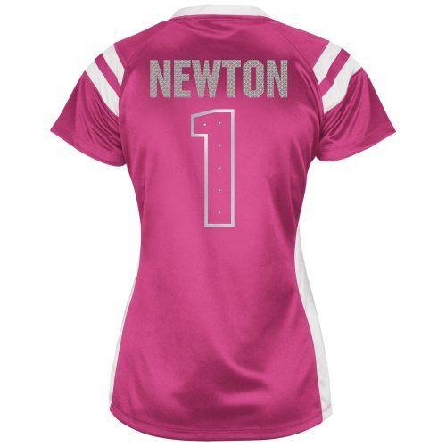 ... including this Cam Newton Carolina Panthers Womens Draft Him Shimmer  V-Neck T-Shirt - Pink . 2f09b34d09