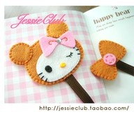 Ponteira de lápis em feltro! Lindo!: Ems Feltro, Hk Bookmarks, Hello Kitty Bookmarks, Hello Kitty Crafts Ideas, Ribbons Bookmarks, Books Mark, Hello Kitty Felt, Cute Kids Bookmarks, Felt Bookmarks