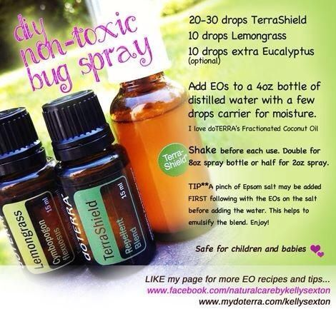 Bug sprayDoterra Mosquito Repellent, Bugs Sprays, Essential Oil, Bugspray, Bugs Repel, Diy Bugs, Doterra Terrashield, Oil Things, Doterra Recipe