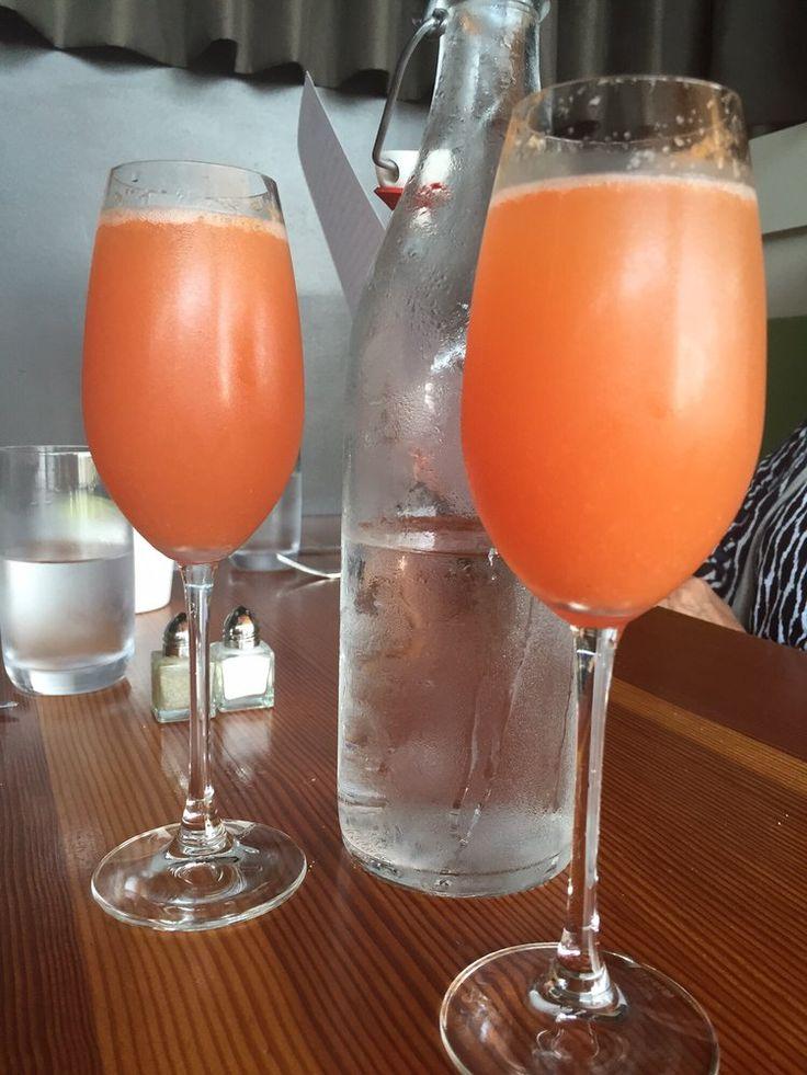 Olivia - Austin, TX, United States. Blood orange and cava mimosas. Yum.