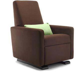 grano glider recliner - contemporary glider chair - modern nursery furniture by Monte Design