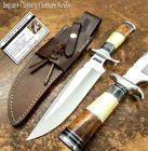 HAND MADE BY IMPACT CUTLERY RARE CUSTOM BOWIE KNIFE CAMEL BONE HANDLE