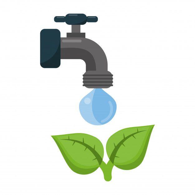 Torneira De Torneira De Ecologia Com água | Ecologia, Vetores ...