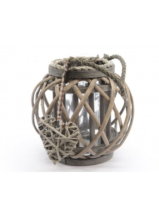 Grey Willow Lantern Rope Handle @ rosefields.co.uk chic_boutique_homeware £14.99