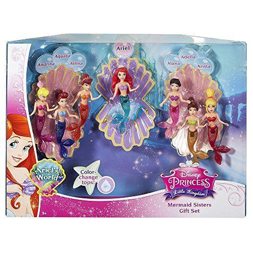 Disney Princess Favorite Moments Mermaid Doll 7-Pack - The Little Mermaid Sisters Mattel http://www.amazon.com/dp/B007Q29ZZQ/ref=cm_sw_r_pi_dp_Mvmxwb0RFB1Y6