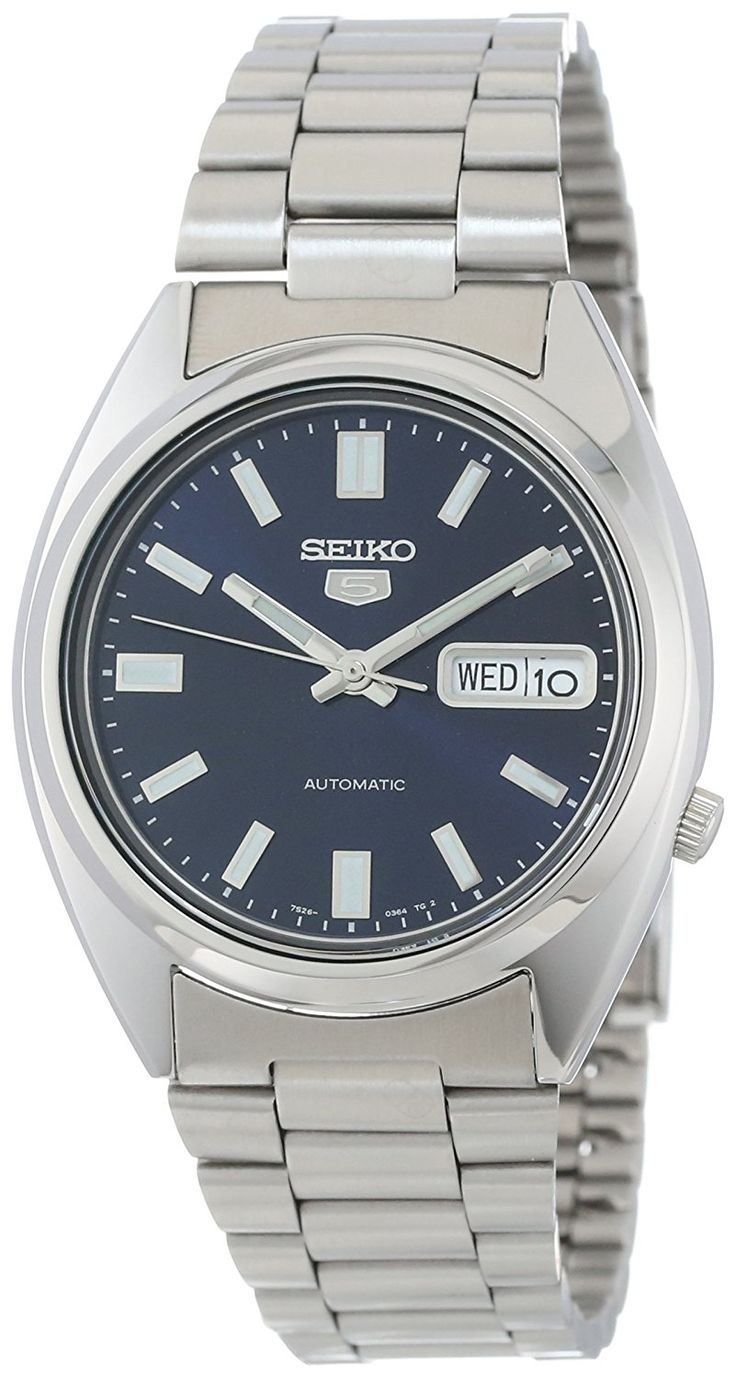 Amazon.com: Seiko Men's SNXS77 Seiko 5 Automatic Blue Dial Stainless-Steel Bracelet Watch: Seiko: Clothing