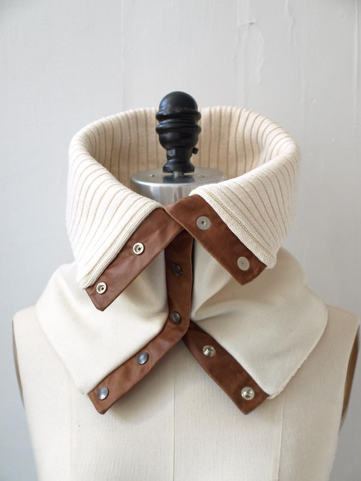 Cowl, scarf cream wool. $50.00, via Etsy.