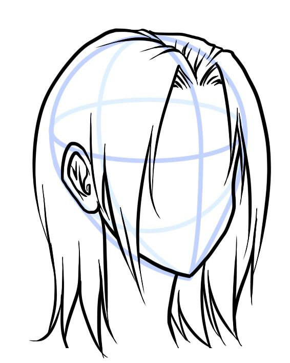 how to draw and color hair