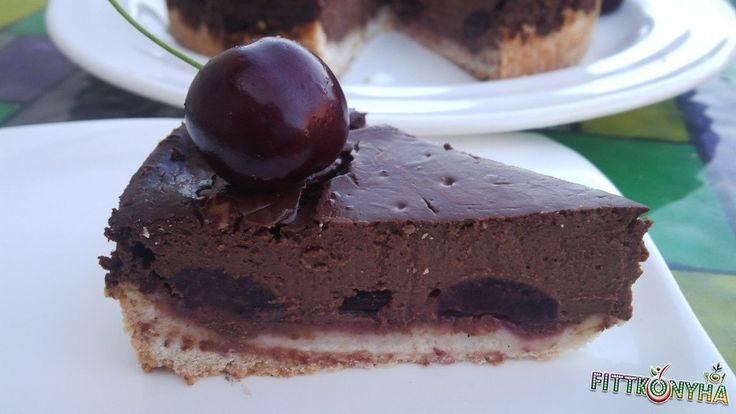 Csokis cseresznyés sajttorta