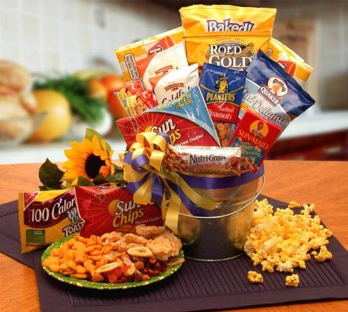 Healthy Snack Food Gift Basket – Care Package Gift Idea for College Kids Away from Home « Lolly Mahoney