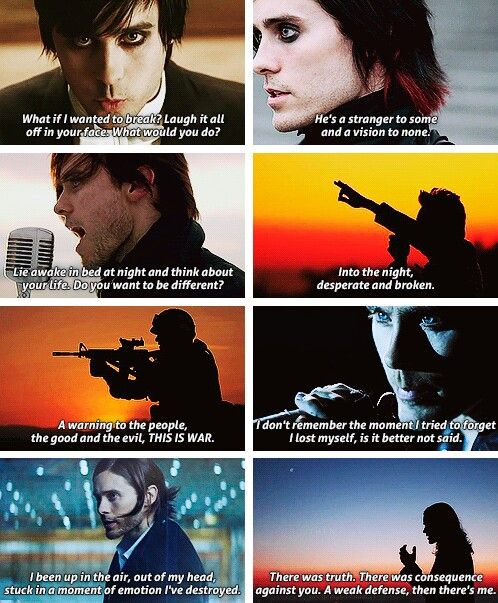 The Kill, From Yesterday, A Beautiful Lie, Kings and Queens, This is War, Closer to the Edge, Up in the Air, and City of Angels <3