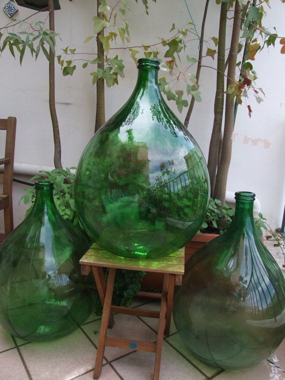 Antique Italian extra large 54 liter hand-blown by creatodame