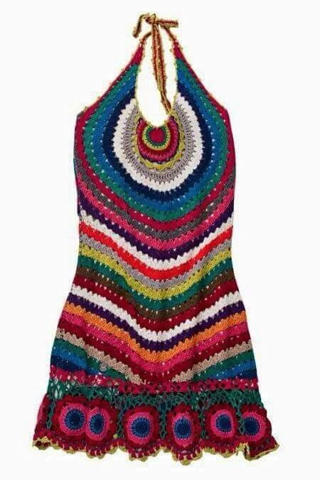 Patron crochet halter dress