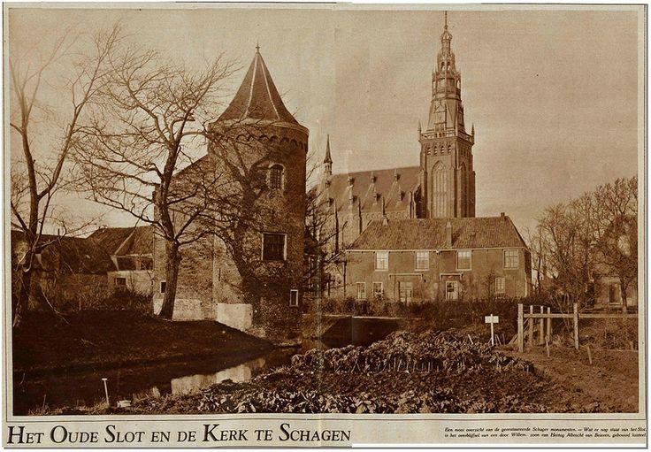 Schagen slot en kerk 1927