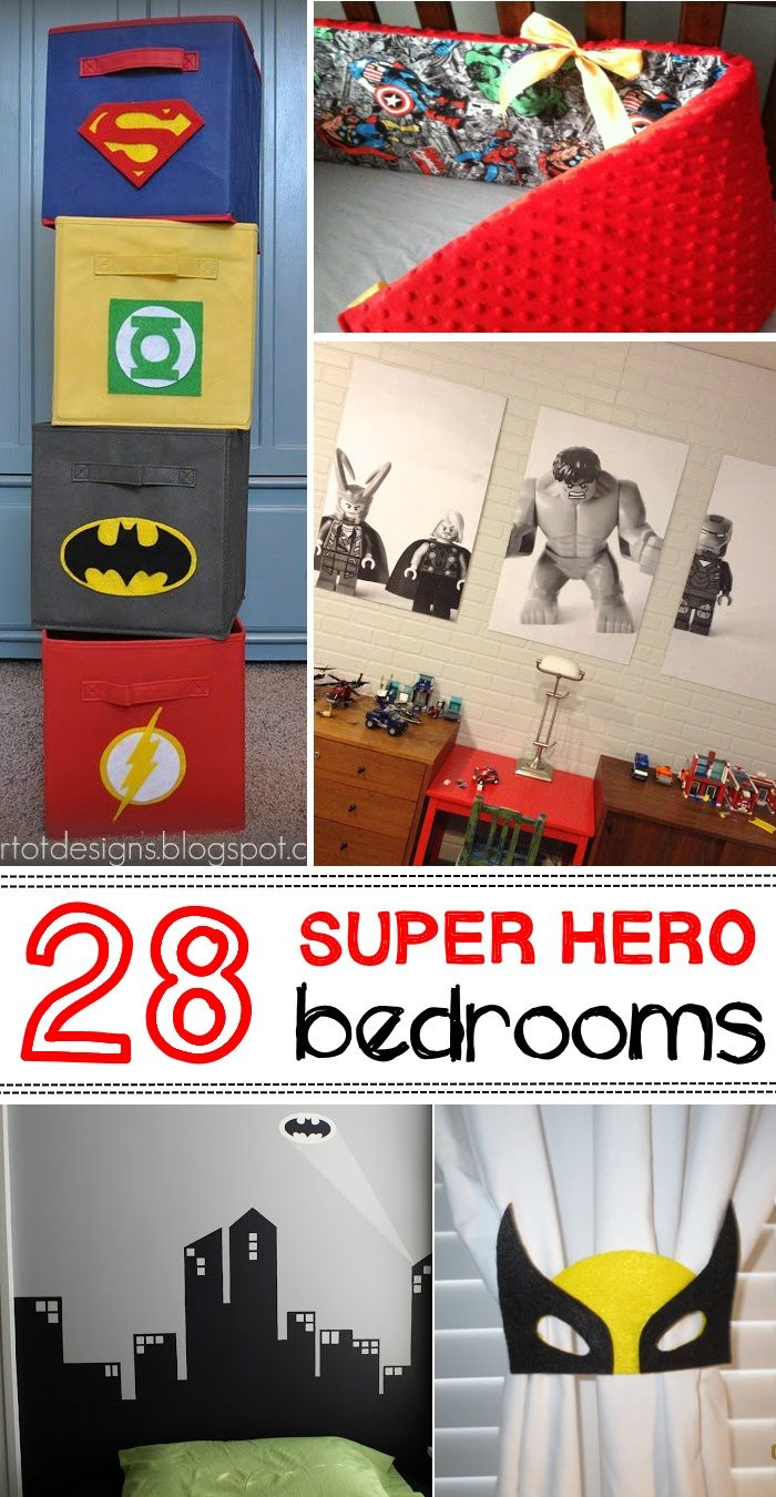 Boys hockey bedroom ideas - How To Turn A Bedroom Into A Super Hero S Headquarters