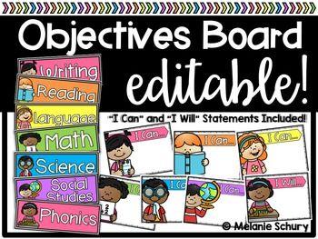 Editable Objectives Board