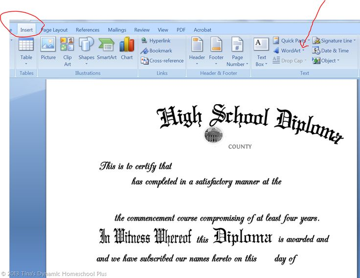 Instructions 1 for Homeschool Diploma