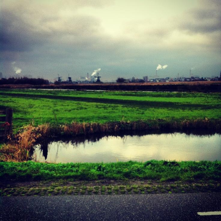Zaan's landschap bij Wormer