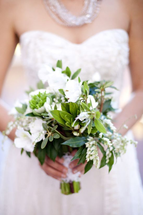 Green And White Wedding Bouquet White And Green Bouquets