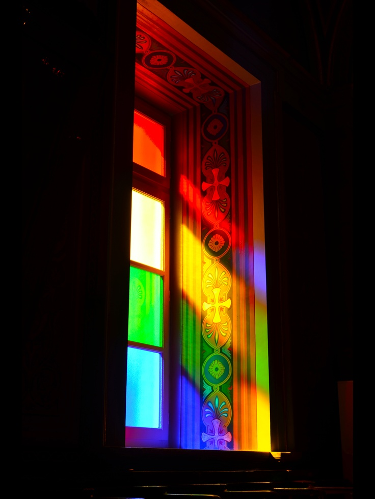 Beautiful Church window of the Ag.Nikolaos Church in #Hermouolis http://www.omilo.com/syros/