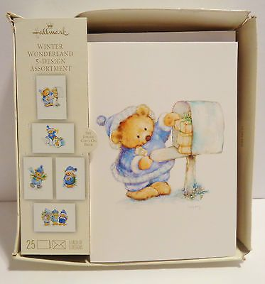 26 best hallmark marys bears images on pinterest mary hamilton hallmark mary hamilton winter wonderland 5 design boxed christmas cards 25 total bookmarktalkfo Gallery