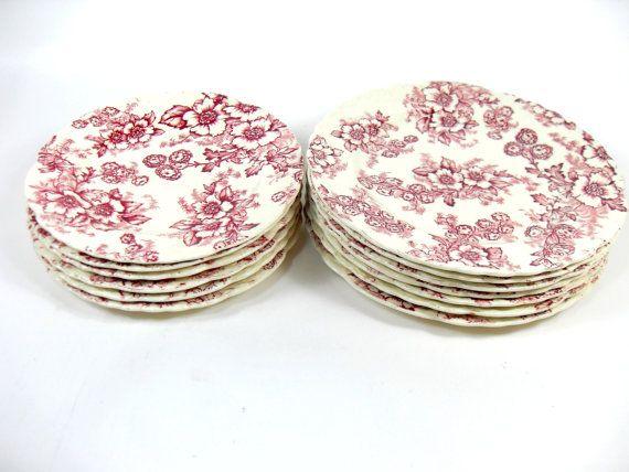 Mid-Century Taylor Smith Dogwood Fairway Cream 13 Plates