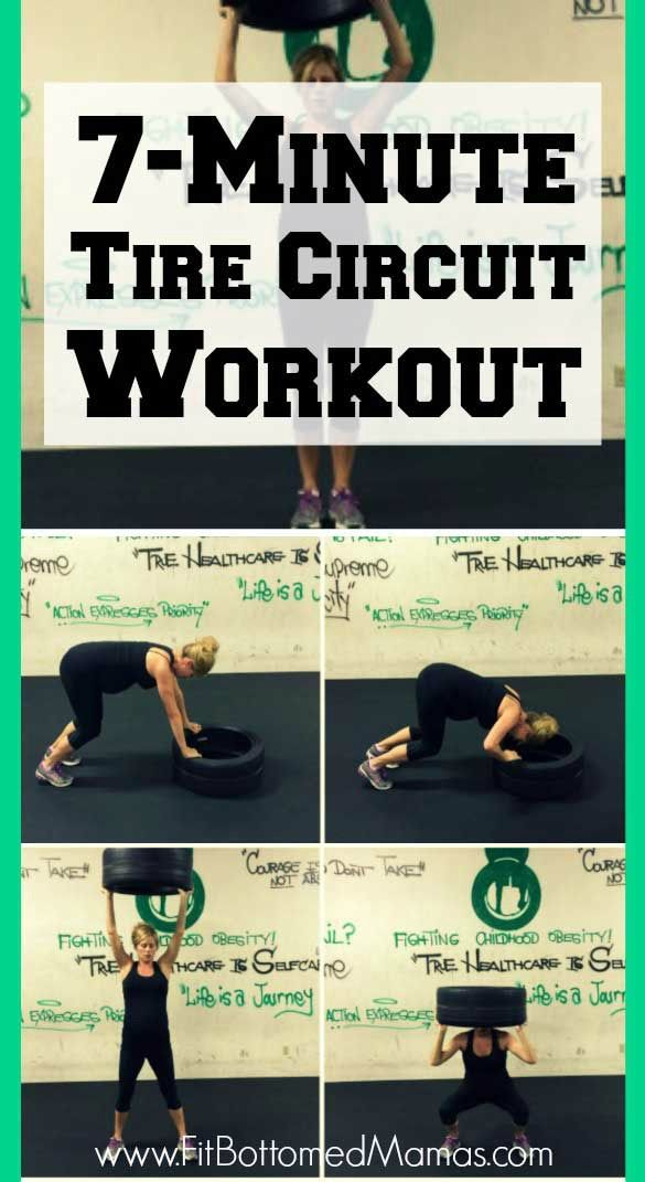 Tired of your dumbbells and resistance bands? Try this 7-min tire workout! (See what we did there? Ha!)