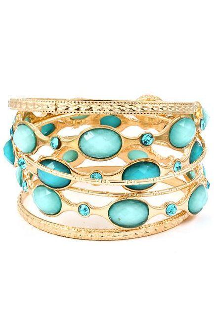 Shimmer of Blues Bracelet Set <3